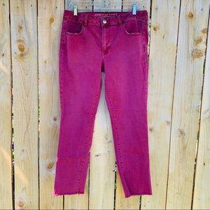 American Eagle Super Stretch Jegging Crop Jeans 14